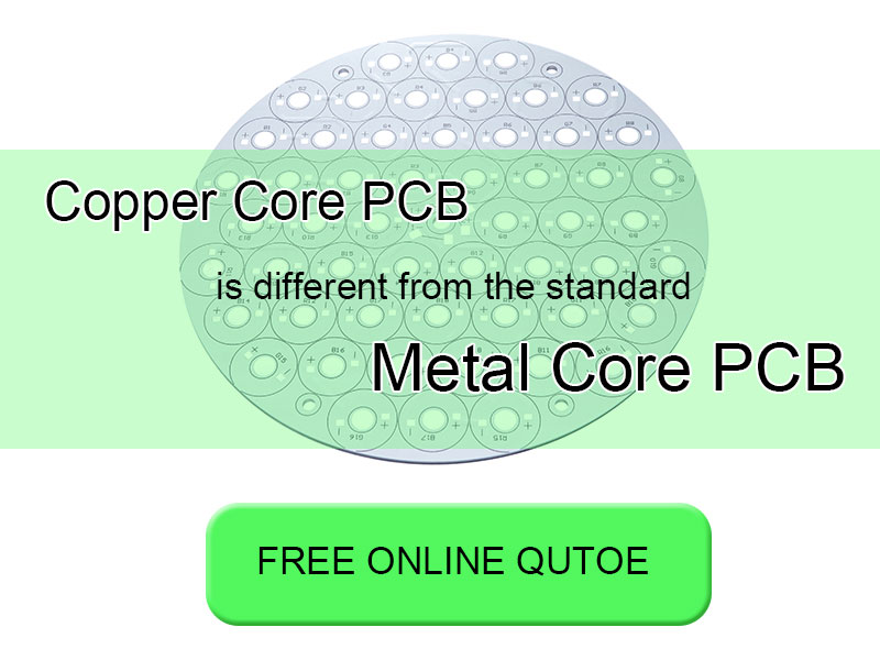 Copper core PCB is different from the standard metal core PCB
