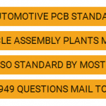 TS 16949 Automotive PCB Standard Applications