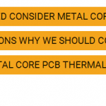 Metal Core PCB thermal conductivity common sense