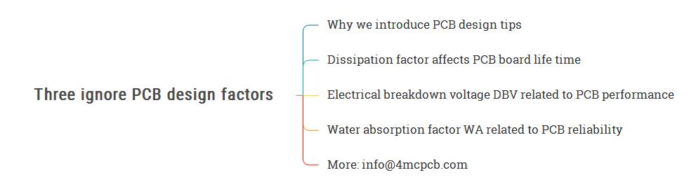 Three ignore PCB design factors