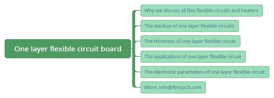 One layer flexible circuit board