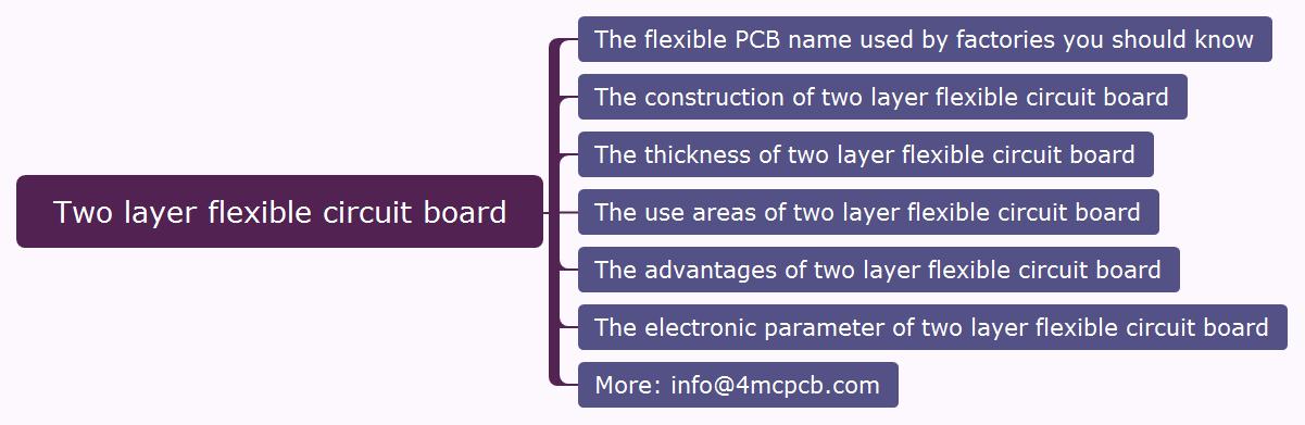 Two layer flexible circuit board