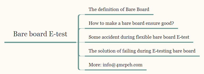 Bare board E-test effective factor introduces