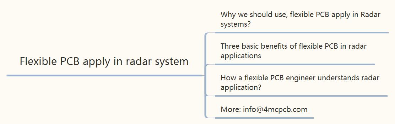 Flexible PCB apply in radar system